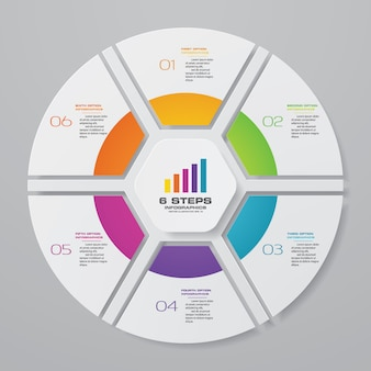 データ表示のためのサイクルチャートインフォグラフィック