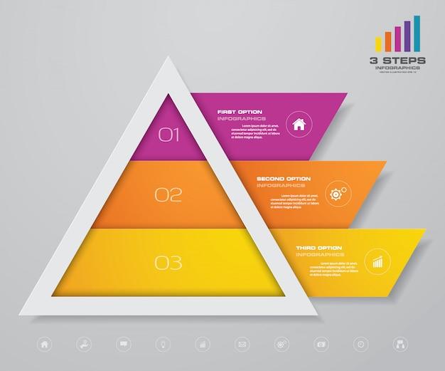 Инфографика пирамидальной диаграммы