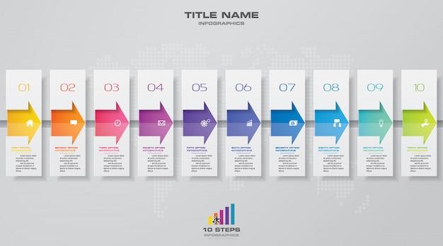 Хронология инфографики элемент