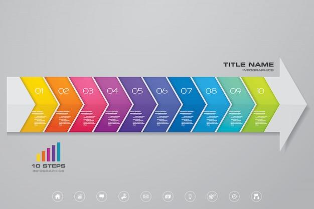 Инфографика стрелка элемент диаграммы.