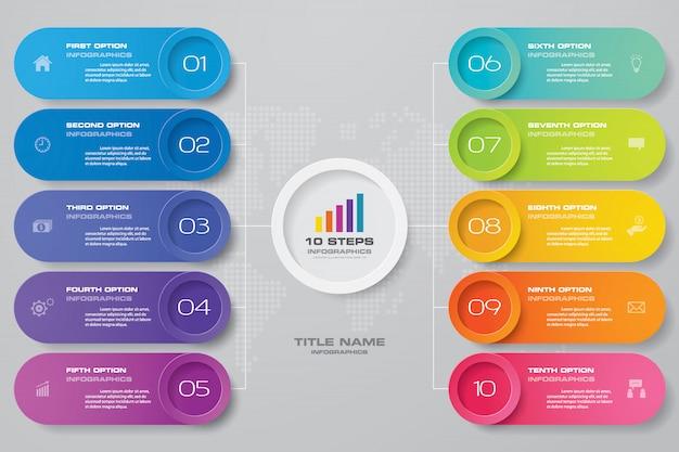 Современная диаграмма инфографики элемент