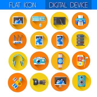 デジタルデバイスアイコンセットコレクション