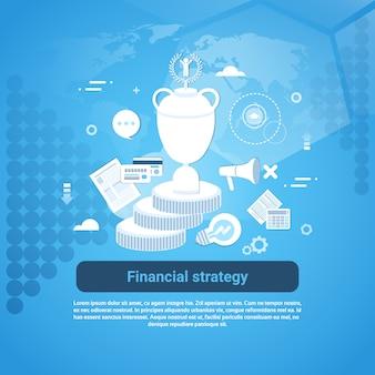 Финансовая стратегия бизнес шаблон веб-баннера