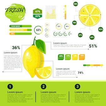 Свежая органическая инфографика рост натуральных фруктов, сельское хозяйство и сельское хозяйство