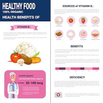 健康食品インフォグラフィック製品、ビタミン、健康栄養ライフスタイルコンセプト