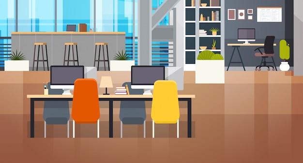 コワーキングスペースインテリアモダンなコワーキングオフィスクリエイティブ職場スペース