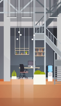 コワーキングオフィスインテリアモダンなコワーキングセンタークリエイティブ職場環境垂直バナー