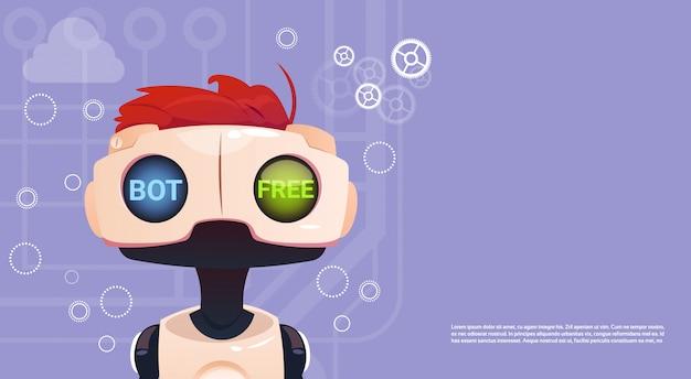 Бесплатный чат-бот, элемент виртуальной помощи робота веб-сайта или мобильных приложений, искусственный интеллект