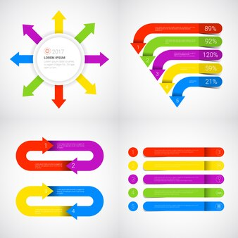 見出しインフォグラフィックセットデザインビジネスデータグラフィックコレクションプレゼンテーションコピースペース