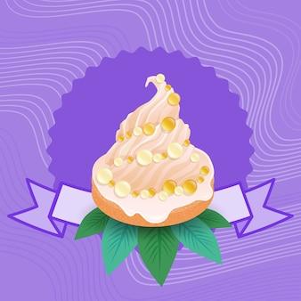 カラフルなケーキ甘い美しいカップケーキデザートおいしい食べ物