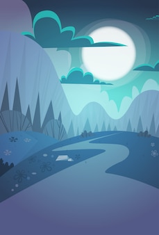 山脈春夜風景国道自然の背景