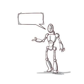 チャットバブルソーシャルネットワーク通信技術を用いた現代のロボット未来的メカニズム