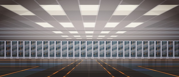 データセンタールームホスティングサーバーコンピュータ情報データベース同期テクノロジ