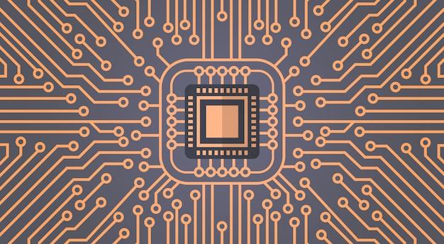 コンピューターチップモーターボードネットワークデータセンターシステムコンセプトバナー