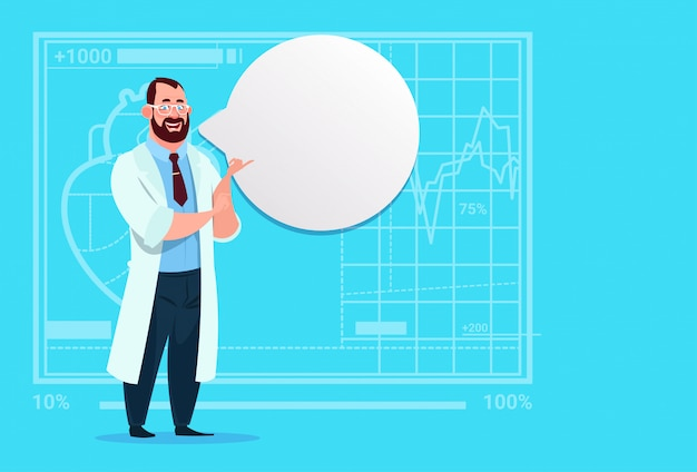 医者とチャットバブル医療クリニックワーカー病院