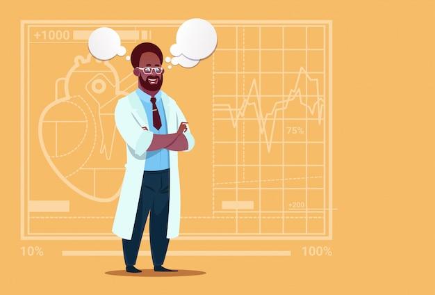 チャットバブル医療クリニックワーカー病院とアフリカ系アメリカ人の医者