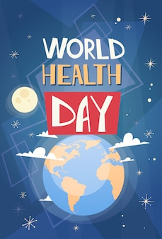 Всемирный день здоровья планеты земля всемирный праздник баннер