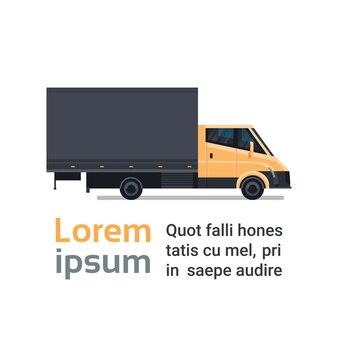 配達用トラック貨物輸送サービスのコンセプト