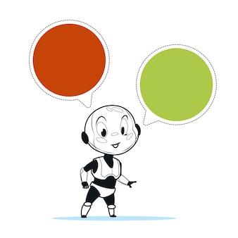 ロボットチャットボットのサポート