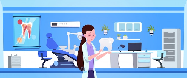 歯科医院インテリア歯科医病院上の女性医師持株歯
