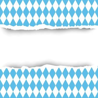 バイエルン州旗破れた紙の背景