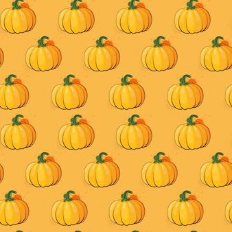 かぼちゃのシームレスパターン秋収穫コンセプトシーズン秋飾り