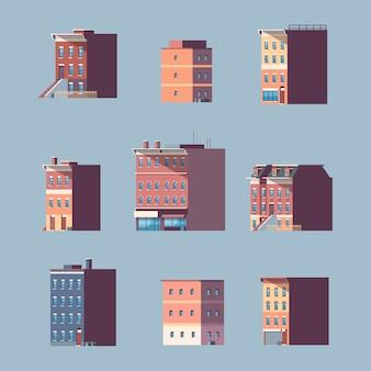 別の都市の建物の家都市の不動産を設定します