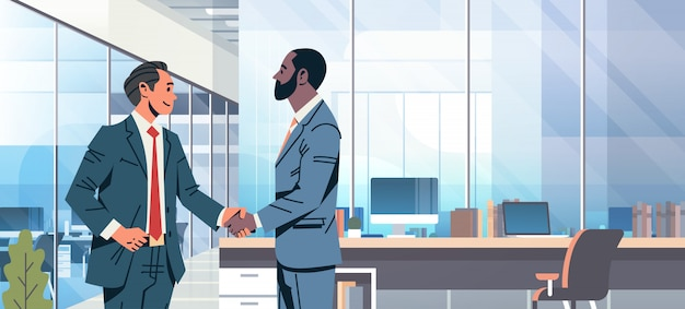 Баннер соглашения рукопожатия бизнесменов