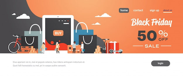 ショッピングバッグを購入した人は、タブレットアプリでオンラインショッピングを購入します。