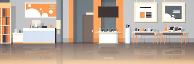 Современные технологии магазин интерьер цифровой компьютер ноутбук экран телевизора смартфон электронные гаджеты рынок плоский горизонтальный