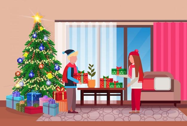 Гостиная в рождество