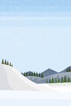 Зимний пейзажный фон