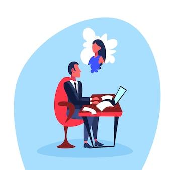 女性で考えて働くビジネスマン