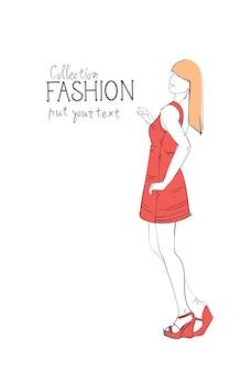 Модная коллекция одежды женская модель модная одежда