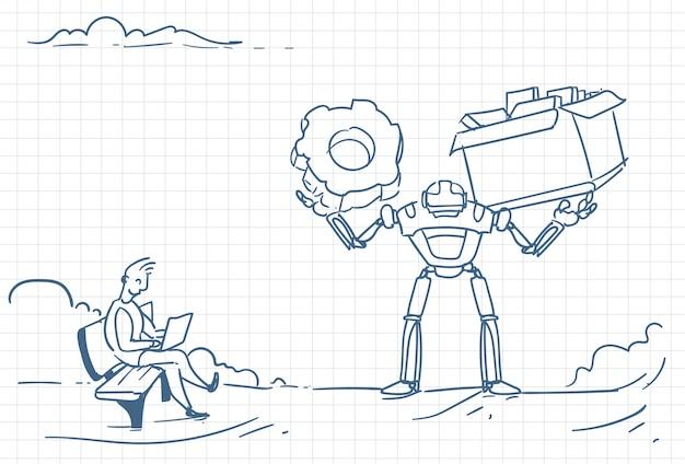 サイボーグによる未来の自動化のスケッチ