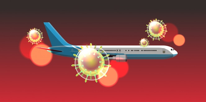 Ключевые слова на русском: пассажирский самолет пролетел в небе коронавирус клетка вспышка китай возбудитель респираторный пандемия ухань вирус медицинская концепция риск для здоровья горизонтальный