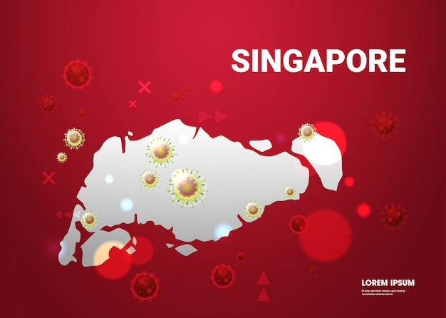 Эпидемия гриппа распространение мира плавающие клетки вируса гриппа ухань коронавирус пандемия медицинский риск для здоровья сингапур карта карта горизонтальный