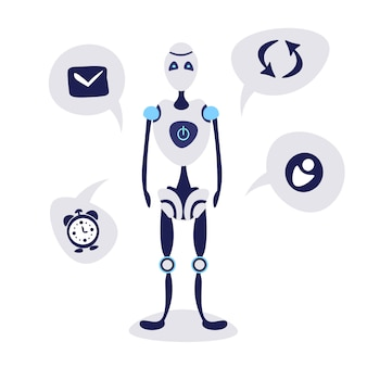 現代のロボットチャットバブルスピーチ