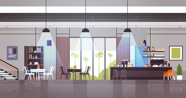 Пустой современный интерьер кафе