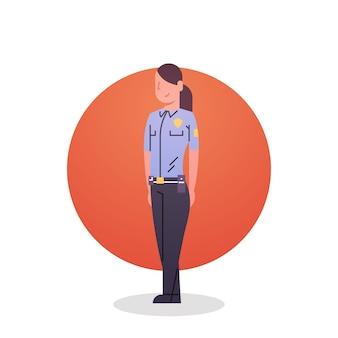 Значок полицейской женщины