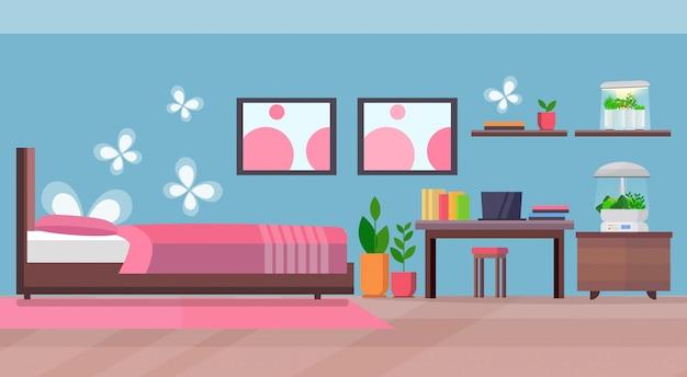 近代的なアパートの寝室のインテリアホーム電子テラリウムガラスコンテナー家植物成長コンセプトフラット水平