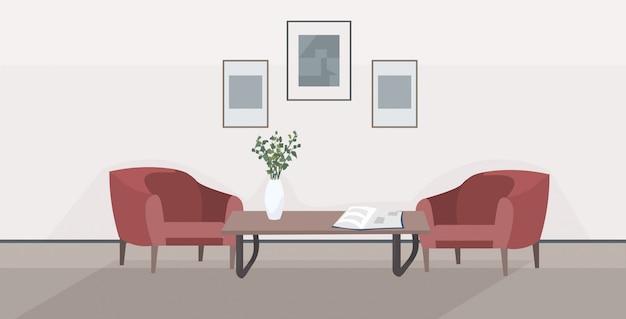 スタイリッシュな家のモダンなリビングルームのインテリア空のない人々の家の部屋の家具フラット水平