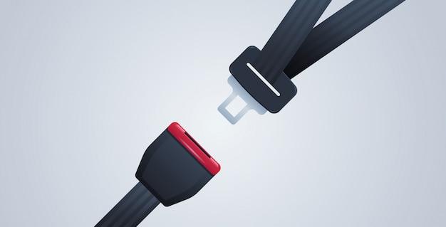 あなたのシートベルトのポスターを安全な旅行安全最初のコンセプト水平フラット
