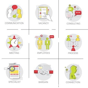 ビジネスチームミーティングブレインストーミングプロセス