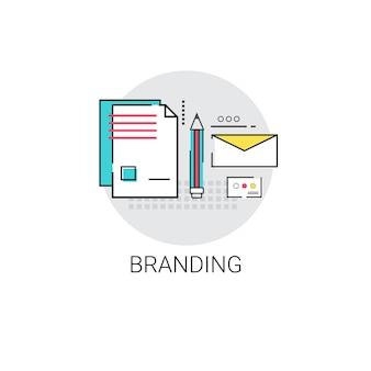 会社のブランディングビジネスアイコンの広告