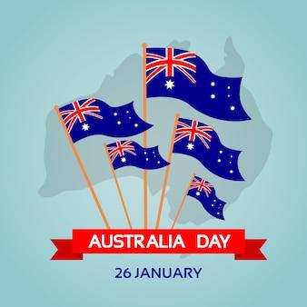 オーストラリアデー国旗フラットベクトルイラストレーション