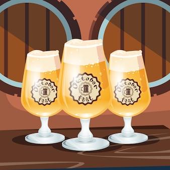 ビールグラスマグカップオクトーバーフェストフェスティバルバナー