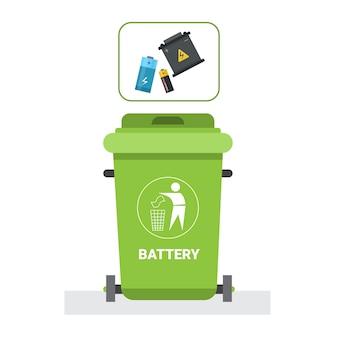 Мусорный контейнер для пластиковых отходов