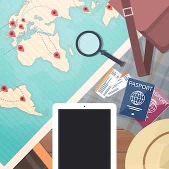 航空券の世界地図