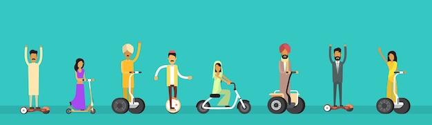 アラブ人グループアラビア人女性ライド電気スクーター